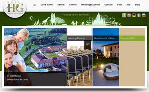 Realizzazione sito Hotel Parchi del Garda
