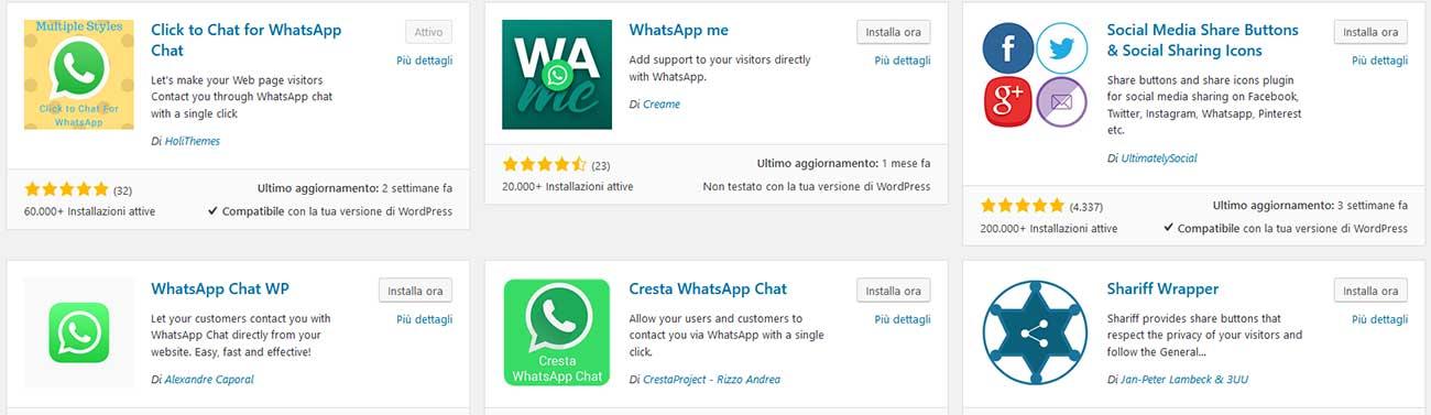 farsi contattare dal sito tramite whatsapp